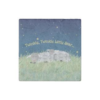 Twinkle Twinkle Little Star Sleeping Sheep Stone Magnet