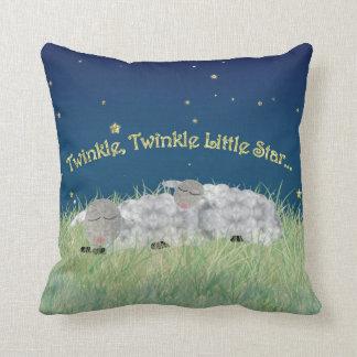 Twinkle Twinkle Little Star Sleeping Sheep Throw Pillow