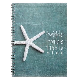 twinkle twinkle little star spiral notebook