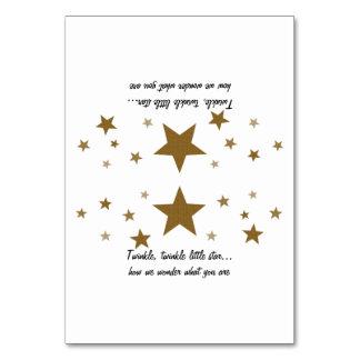 Twinkle Twinkle Little Star Tent Cards
