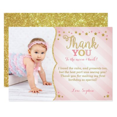 1st Birthday Thank you card – 1st Birthday Thank You Cards