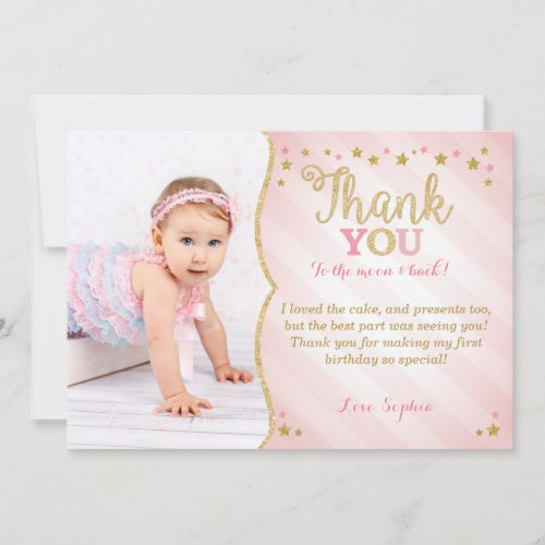 Twinkle Twinkle Little Star Thank You Card