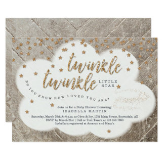 Twinkle Twinkle Little Star Unisex Baby Shower Card