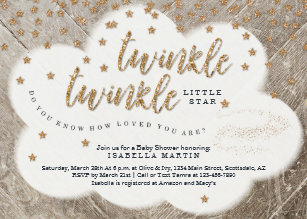 Le Little Star Uni Baby Shower Invitation