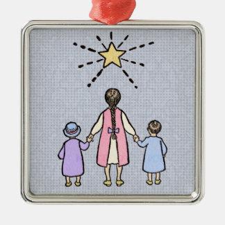 Twinkle, Twinkle Little Star Vintage Nursery Rhyme Metal Ornament