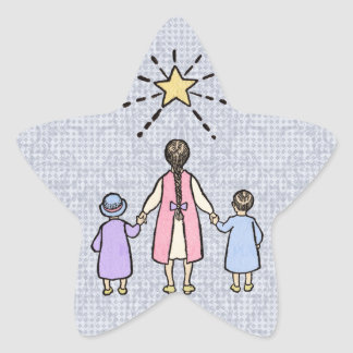 Twinkle, Twinkle Little Star Vintage Nursery Rhyme Star Sticker