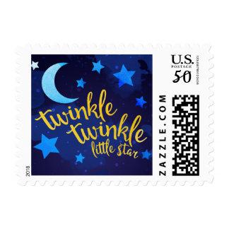 Twinkle Twinkle Little Star Watercolor Postage
