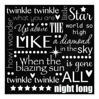 Twinkle Twinkle Little Star Word Art Card