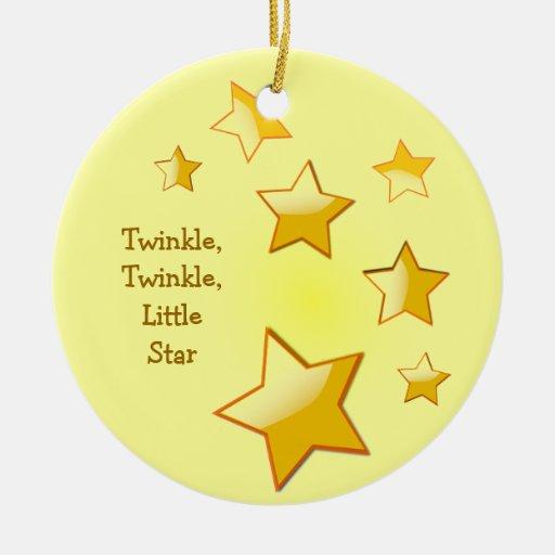 Twinkle, Twinkle, Little Star Yellow Ornament