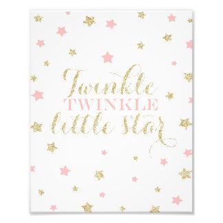 Twinkle Twinkle Little Stars Nursery Print Photo Print