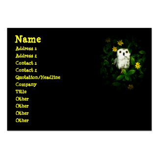 Twinkle Twinkle Little Stars Owl Namecard Large Business Cards (Pack Of 100)