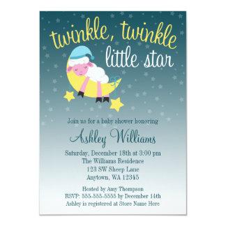 Twinkle Twinkle Star Lamb Baby Shower Card