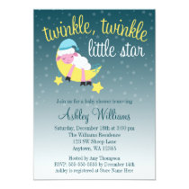 Twinkle Twinkle Star Lamb Baby Shower Invitation