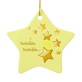 Twinkle, Twinkle Star Ornament Yellow