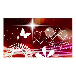 Twinkle Twinkle Stars Heart Butterfly Spirals Business Card Templates