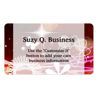 Twinkle Twinkle Stars Heart Butterfly Spirals Business Card Template