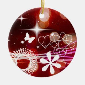 Twinkle Twinkle Stars Heart Butterfly Spirals Ceramic Ornament