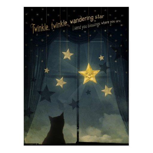 Twinkle, Twinkle, Wandering Star Post Card