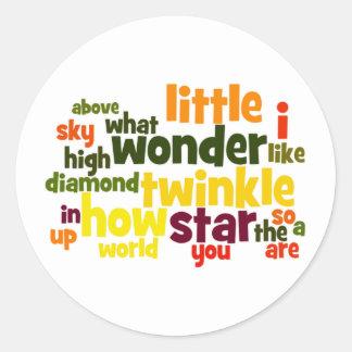 Twinkle, twinkle.. Wordart stickers