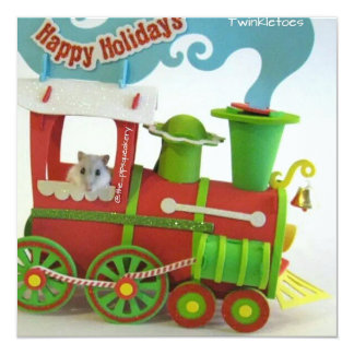 Twinkletoes on the Christmas Train Card