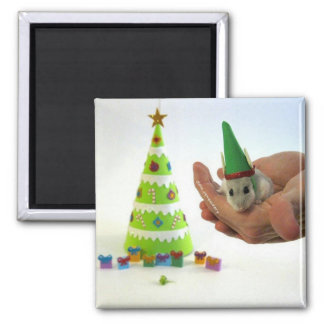 Twinkletoes the Elf! 2 Inch Square Magnet