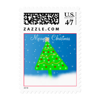 Twinkling Christmas Tree Postage