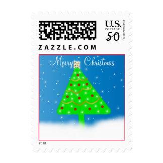 Twinkling Christmas Tree Postage