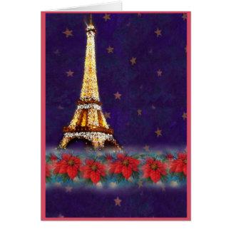 twinkling EIFFEL TOWER JOYEUX NOEL Greeting Card