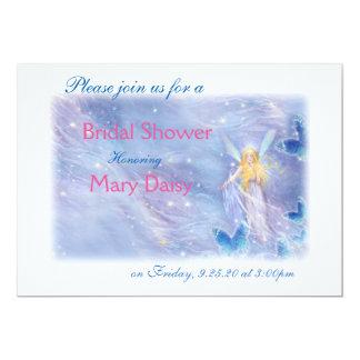 Twinkling fairy & stardust bridal shower card