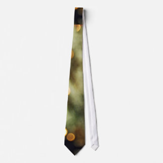 Twinkling Gold Lights On A Christmas Tree Blurred Tie