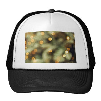 Twinkling Gold Lights On A Christmas Tree Blurred Trucker Hat