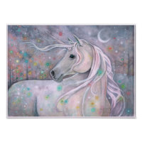 Twinkling Lights Magical Unicorn Molly Harrison Poster