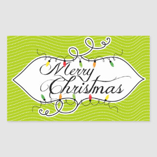 Twinkling Lights Merry Christmas Holiday Stickers