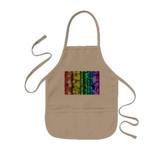 Twinkling Neon Rainbow Pattern Kids' Apron