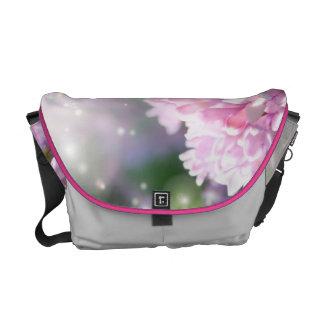 Twinkling Pink Lilacs Messenger Bag