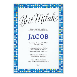 Jewish Bris Invitations Announcements Zazzle