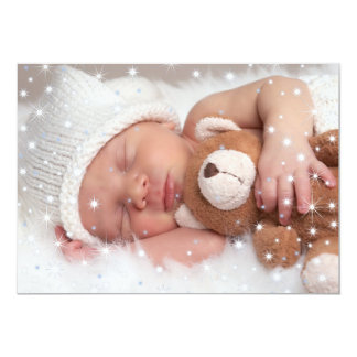 Twinkling Stars - Family Photo Card