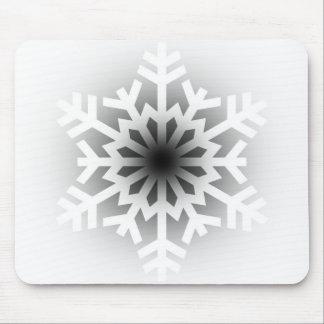 Twinkling White Snowflake Mouse Pad
