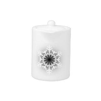 Twinkling White Snowflake Teapot