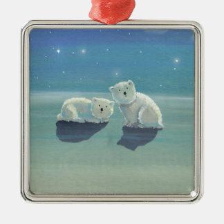 Twinkling Winter Polar Bears Christmas Ornament