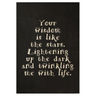 """Twinkling With Life, Custom Wood Poster, 19"""" x 29"""" Wood Poster"""