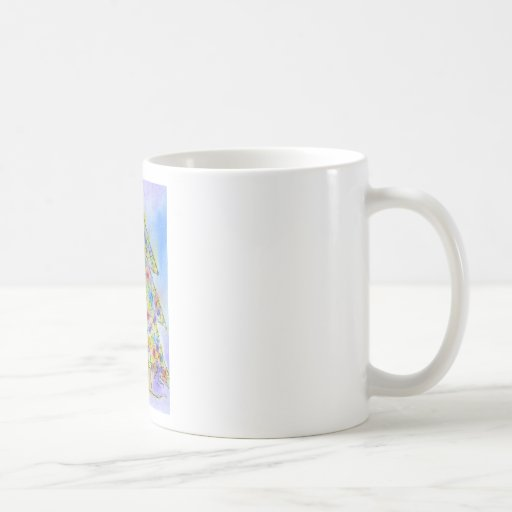 Twinkly Christmas Tree Classic White Coffee Mug