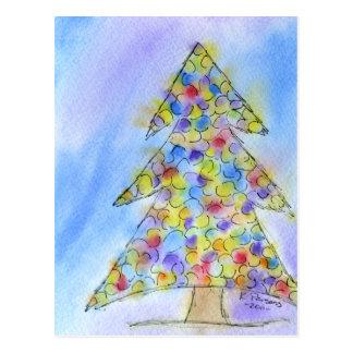 Twinkly Christmas Tree Postcard