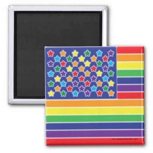 Twinkly Rainbow Flag Magnet