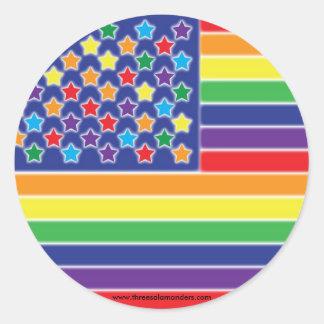 Twinkly Rainbow Flag Stickers