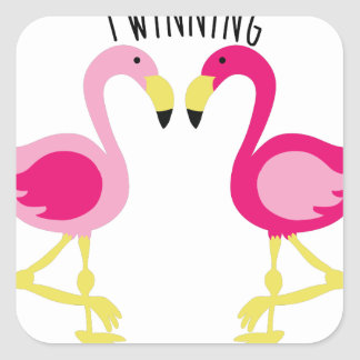 Twinning Square Sticker