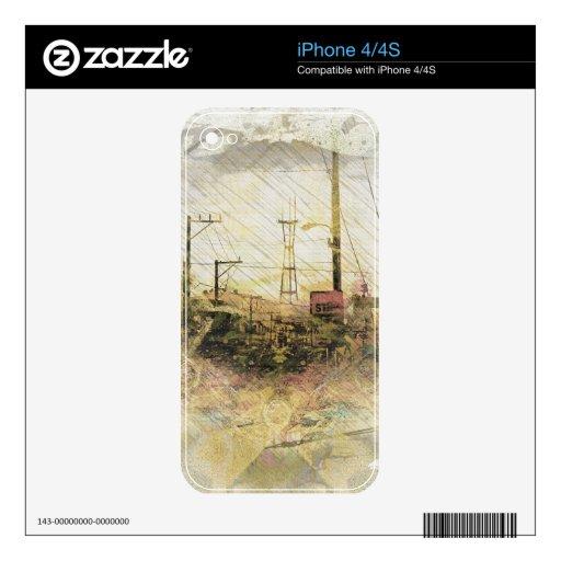 TwinPeaks San Francisco estalló la isla iPhone 4 Calcomanía