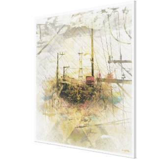 TwinPeaks SanFrancisco exploded Island Canvas Print