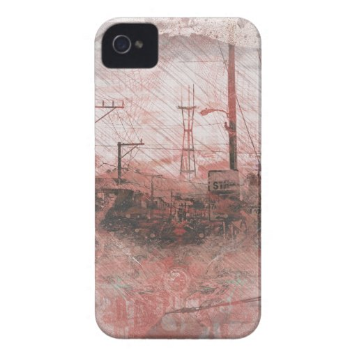 TwinPeaks SanFrancisco exploded Island iPhone 4 Case-Mate Cases