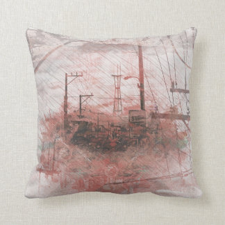 TwinPeaks SanFrancisco exploded Island Throw Pillow